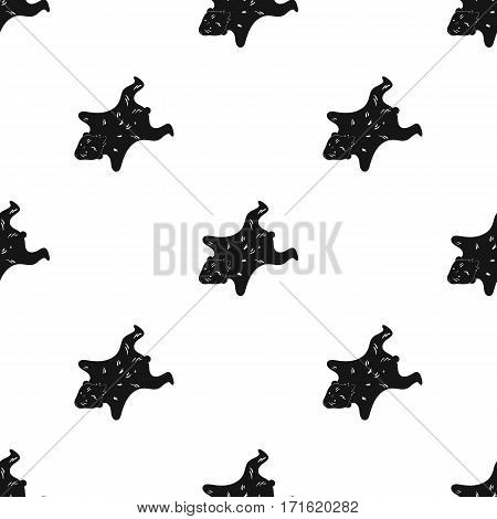 Bearskin icon in black style isolated on white background. Stone age pattern vector illustration.