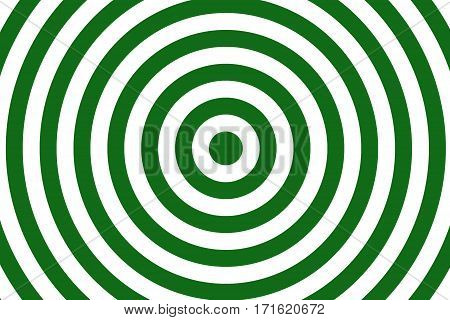 Illustration of dark green and white concentric circles