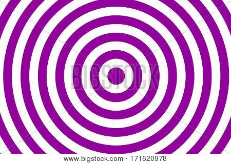 Illustration of purple and white concentric circles