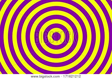 Illustration of purple and yellow concentric circles