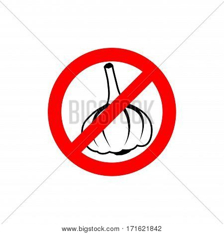 Stop Garlic. Prohibiting Road Sign. Prohibited Pungent Smell