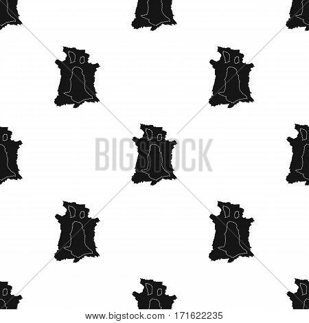 Animal hide icon in black style isolated on white background. Stone age pattern vector illustration.