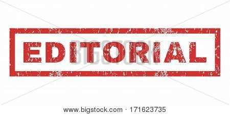 Editorial text rubber seal stamp watermark. Tag inside rectangular banner with grunge design and unclean texture. Horizontal vector red ink emblem on a white background.