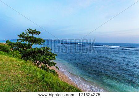 Beautiful view of the lagoon near fort of Galle, Sri Lanka