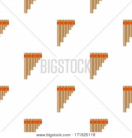 Mexican pan flute icon in cartoon style isolated on white background. Mexico country pattern vector illustration.