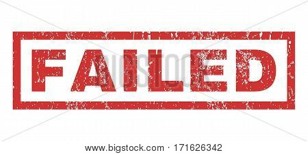 Failed text rubber seal stamp watermark. Tag inside rectangular shape with grunge design and dust texture. Horizontal vector red ink emblem on a white background.
