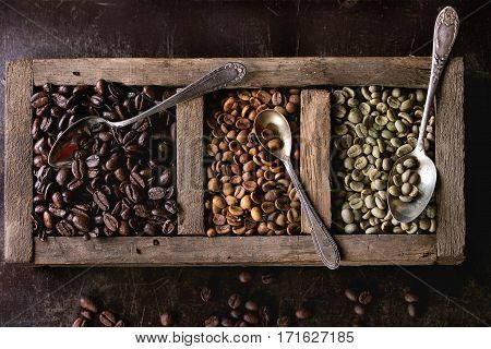 Variation Of Coffee Beans