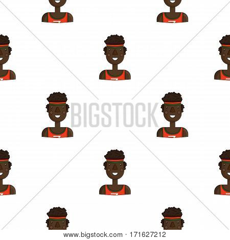 Sportsman icon in cartoon style isolated on white background. People of different profession pattern vector illustration.