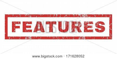 Features text rubber seal stamp watermark. Caption inside rectangular banner with grunge design and scratched texture. Horizontal vector red ink sign on a white background.
