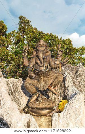 Ganesha Statue At Tiger Cave Temple, Krabi