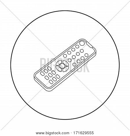 Remote control icon in outline style isolated on white background. Films and cinema symbol vector illustration.