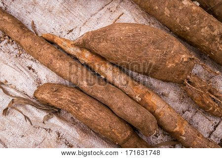 Cassava Sold On African Market