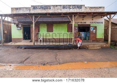 Poor Kenyan Countyside After Rain