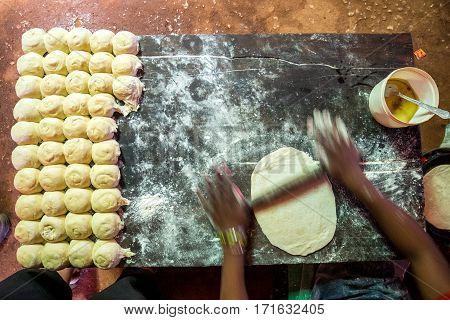 Preparing Chapati In Simple Environment