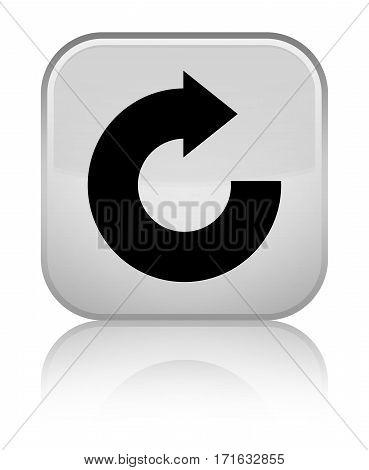 Reply Arrow Icon Shiny White Square Button