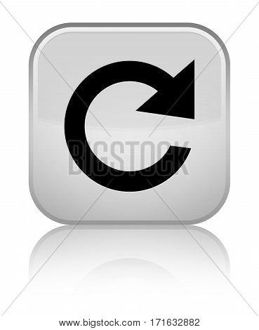 Reply Rotate Icon Shiny White Square Button