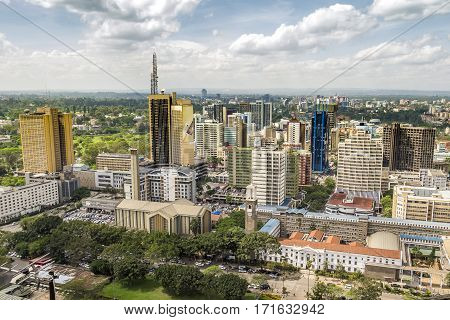 Nairobi Cityscape - Capital City Of Kenya