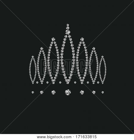 crown inlaid with precious stones, vector art