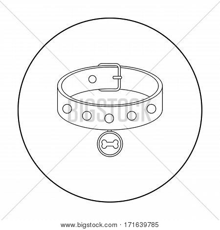 Dog collar vector illustration icon in outline design