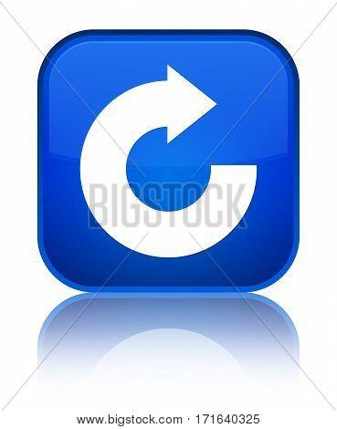 Reply Arrow Icon Shiny Blue Square Button