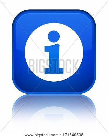 Info Icon Shiny Blue Square Button
