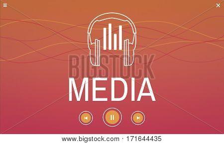 Headset Music Media Technology Icon