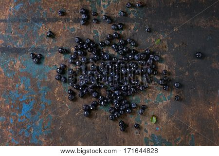 Heap Of Forest Blueberries
