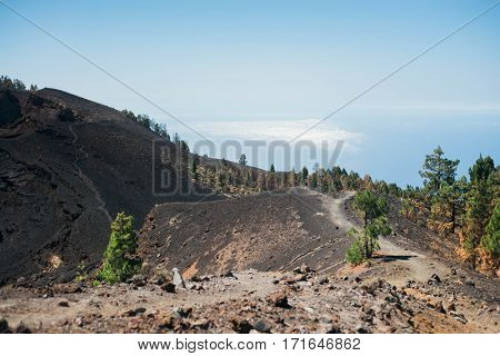Volcanic landscape in La Palma, Canary Islands