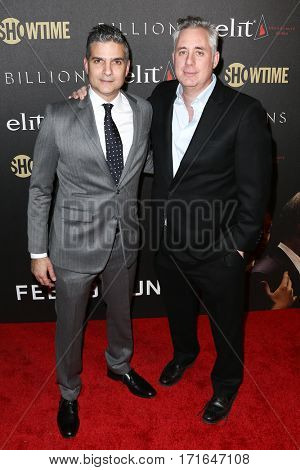 Executive producers and showrunners David Levien (L) and Brian Koppelman attend the