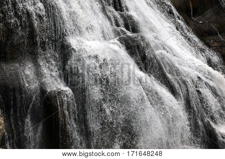 Closeup Of Gibbon Falls