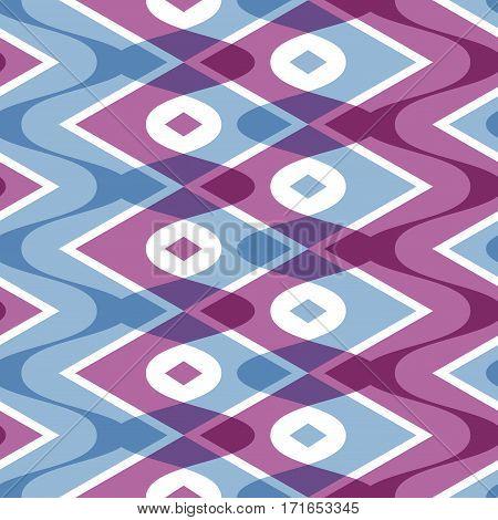 Simple geometric scalloped seamless pattern, vector illustration