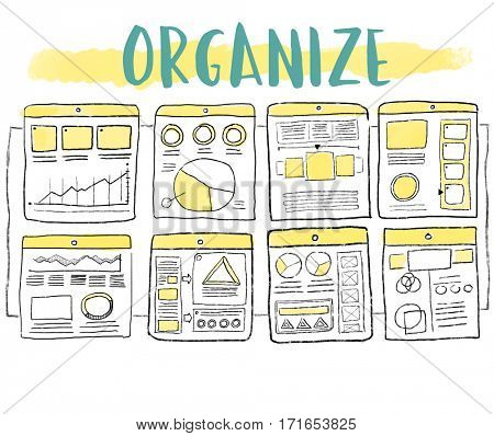 Content Organize Project Chart Sketch Drawing