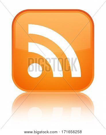 Rss Icon Shiny Orange Square Button