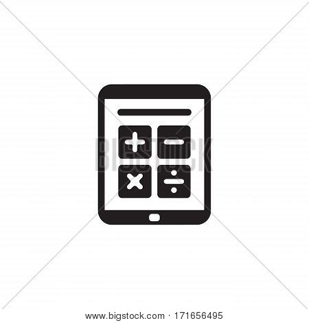 Earnings Calculator Business Icon. Flat Design Isolated Illustration.