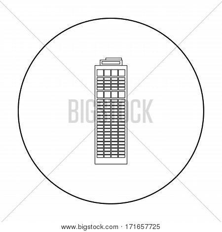 Skyscraper icon outline. Single building icon from the big city infrastructure outline.