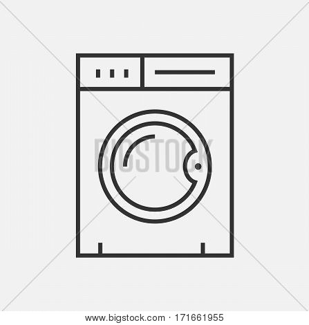 Washing machine isolated icon symbol washer illustration vector stock