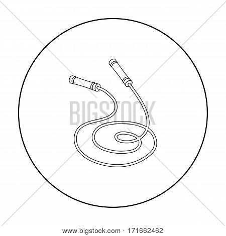 Jump rope icon in outline style isolated on white background. Boxing symbol vector illustration.