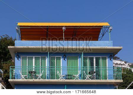 House Facade In Yung Shue Wan Lamma Island
