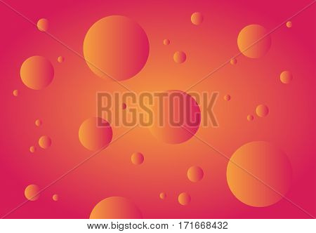 Sanguine abstract technology background. Gradient bubbles for web sites user interfaces and applications. Vector illustration