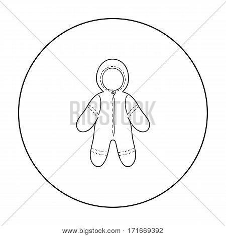 Baby bodysuit icon in outline style isolated on white background. Baby born symbol vector illustration.