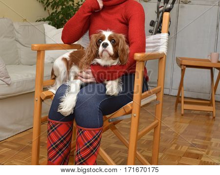 Woman And Doggy