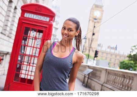 portrait of a fitness woman in london