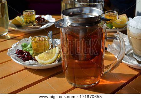 Served Tea Set