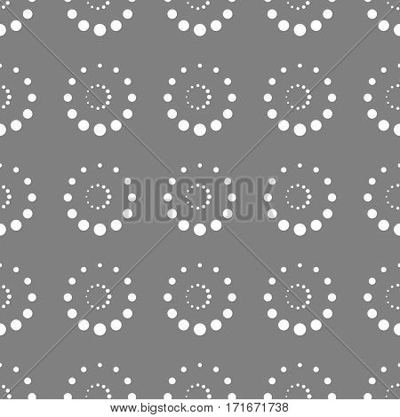 Seamless Background With Circles And Rings.