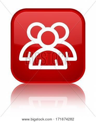 Group Icon Shiny Red Square Button