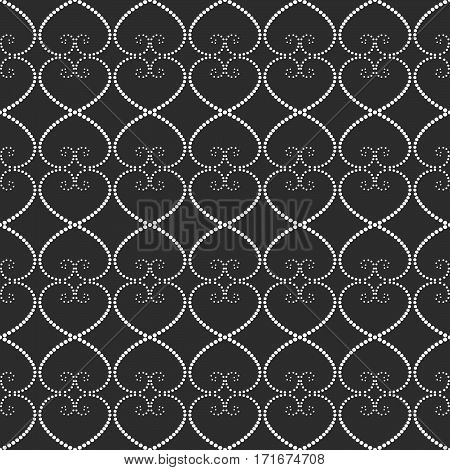 Seamless Pattern Of Dots On A Gray Background.