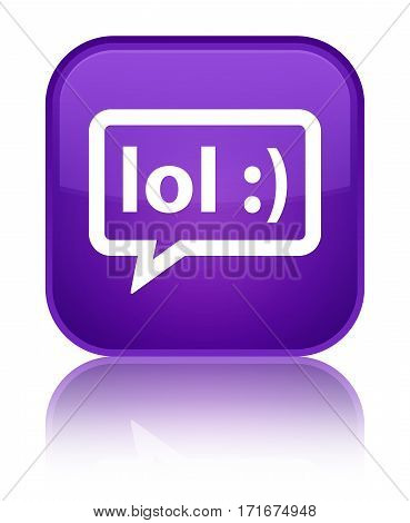 Lol Bubble Icon Shiny Purple Square Button