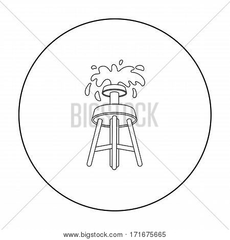 Oil rig icon in outline style isolated on white background. Arab Emirates symbol vector illustration.