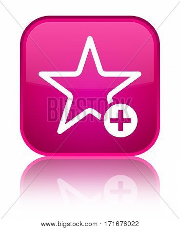 Add To Favorite Icon Shiny Pink Square Button