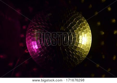 Disco ball lighting in a disco club